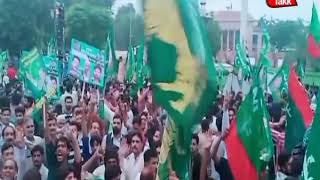 A Large Number of PML N Workers Chanting Slogans in Opposition Protest Rally (3)
