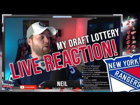 My NHL Draft Lottery Live Reaction!