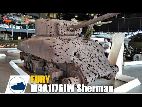 Fury, How It Should Have Ended !! M4A1[76]W Sherman Rangetarget - Walkaround - NMM Soest. Part 2