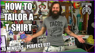 How to make a t-shirt fit perfectly - Beginner level sewing technique! How to use a sewing machine