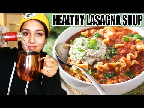 HEALTHY LASAGNA SOUP - Slowcooker Recipe! 🍅 #TastyTuesday