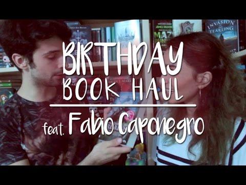 BIRTHDAY BOOK HAUL | COSE DELIRANTI (Feat. Fabio Caponegro)