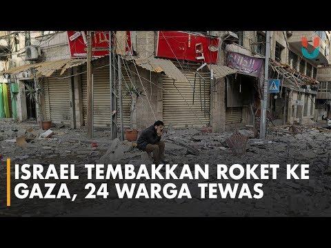 Israel dan Palestina Saling Serang Menggunakan Roket