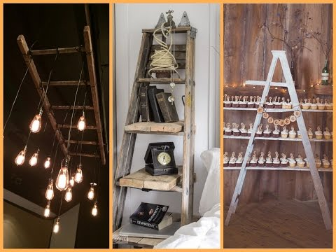 DIY Ladder Repurpose Ideas - Recycled Home Decor