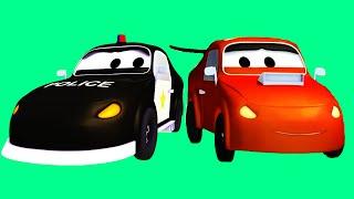 Авто Патруль: пожарная машина и полицейская машина, и Гонщик-нарушитель, Трактор   Мультфильм