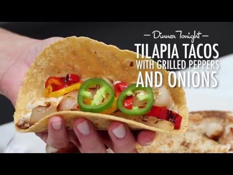 How to Make Sautéed Tilapia Tacos with Grilled Peppers and Onion | Dinner Tonight