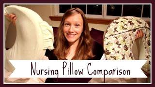 Nursing Pillow Comparison:  Boppy vs  My Brest Friend