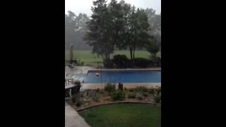 Hard rain Davisboro, Ga