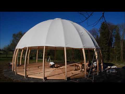 Kuppelzelt Aufbau