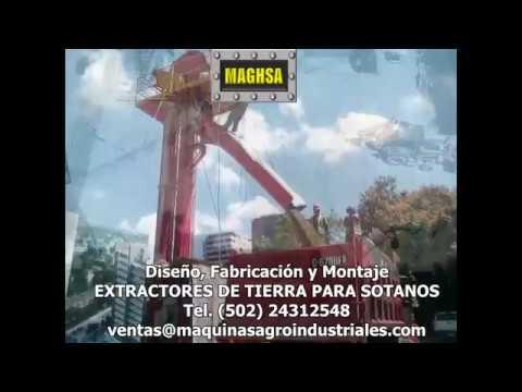 MAGHSA - Extractor de tierra para sotanos- Movimiento de tierras - excavaciones