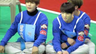 (Fancam)20160118-방탄소년단BTS 아육대 정국 couple moment(Jikook.Jinkook.Sugakook)