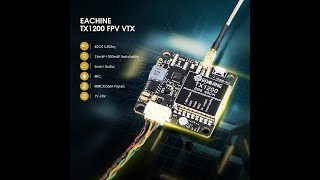 Eachine TX1200 25/200/600/1000mW 5.8GHz 40CH FPV Transmitter LED Display Support Smart Audio OSD Pit