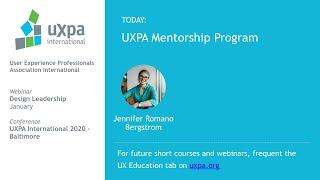UXPA Mentorship Program