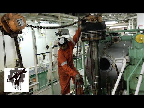 Моточистка(Overhaul)1-го цилиндра MAN B&W 6S46MC-C .Демонтаж/ВИДЕОДНЕВНИК VLOG№13