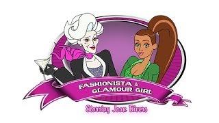 Fashionsita and Glamour Girl intro. Stars Joan Rivers Christina Milian Melissa Rivers Seth Rudetsky