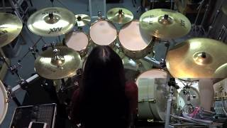 """ARCH ENEMY """"Ravenous"""" drum cover by Fumie Abe"""