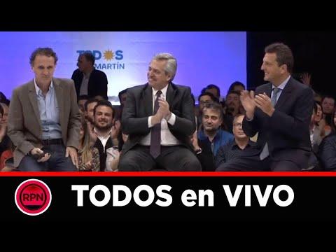 VIVO: Alberto, Massa y Katopodis desde San Martin