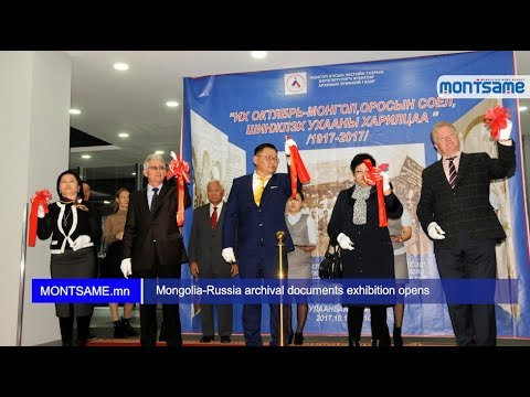 Mongolia-Russia archival documents exhibition opens
