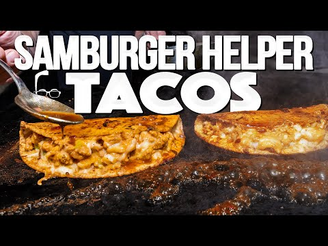 SAMBURGER HELPER TACOS (BIRRIA STYLE – CRISPY AND JUICY AND OMG!) | SAM THE COOKING GUY