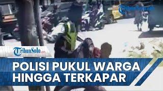 Oknum Polantas Pukuli Warga di Pinggir Jalan Deliserdang, Ibu Korban Histeris: Pak Polisi Ini Anakku