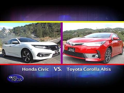 All New Corolla Altis Vs Civic Perbedaan Grand Avanza E Dan G 2018 Head To Toyota Honda Auto Focus