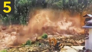 Top 5 LARGEST Flash Floods (caught on video)