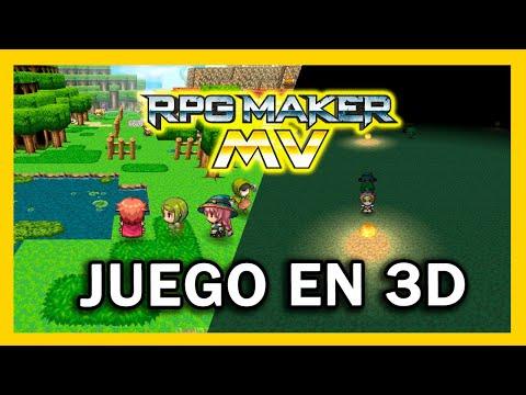 JUEGOS 3D en el RPG MAKER MV con este plugin 😱