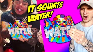 A CLOSE LOOK At 6IX9INES NEW Water Park CHAIN!! (IT SQUIRTS WATER!)