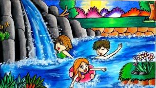 Hasil Gambar Untuk Mewarnai Langit Oil Pastel For Kids T