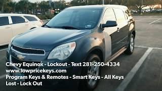 Locksmith Houston Katy Sugar Land - 2010 Chevy Equinox Lockout