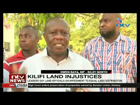 Kilifi leaders say land officials an impediment to equal land distribution