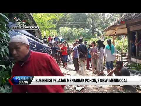 Bus Rombongan Pelajar Kecelakaan di Sukabumi, 2 Siswi Meninggal