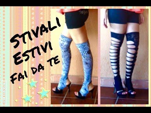 STIVALI ESTIVI FAI DA TE / ALTI / GLADIATORE / STIVALETTI - TUTORIAL by Diana Toto