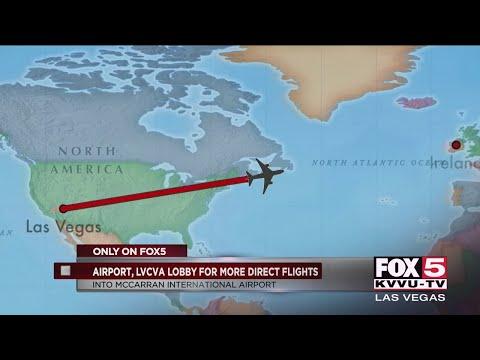 McCarran Int'l Airport lobbies for more direct international flights