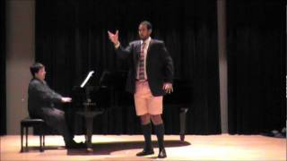 Jonathan Christopher, baritone and Michael Shannon, piano - My Friends (Sweeney Todd)