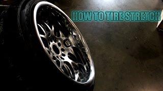 Stretching Tires 235/40R18 on 18x10.5 JDM Hella Flush Stanced