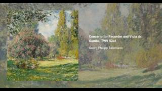 Concerto for Recorder and Viola da Gamba, TWV 52:a1