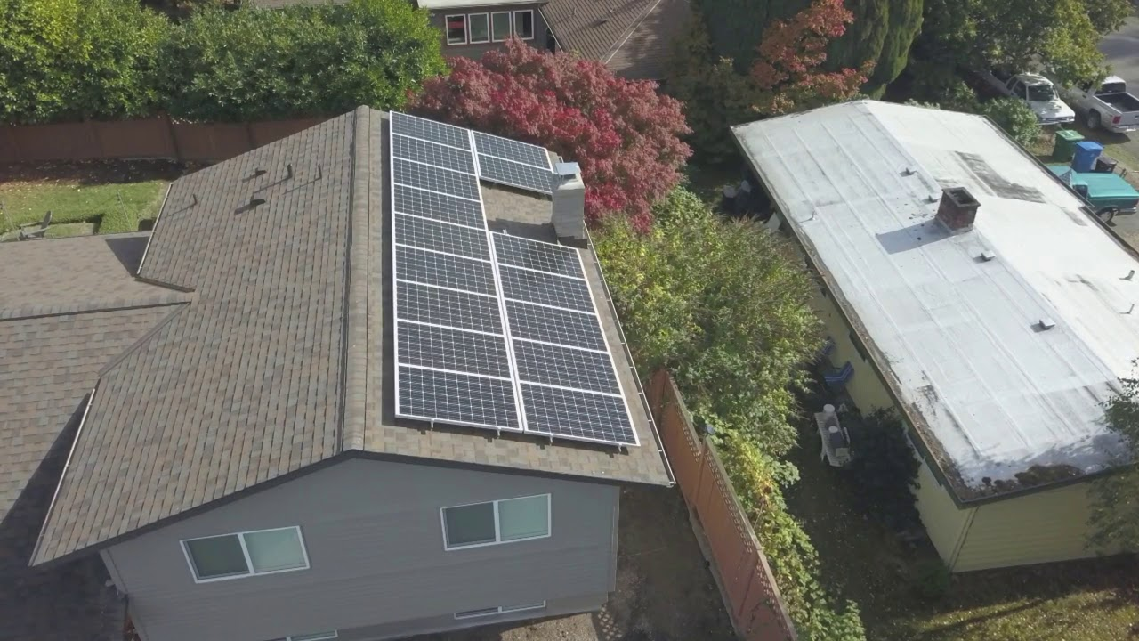 Roof and Solar Project located in North Seattle by Pinnacle Roofing Professionals, LLC