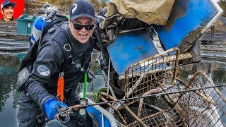 Found Fishing Poles, Chairs & Sunglasses while Scuba Diving!