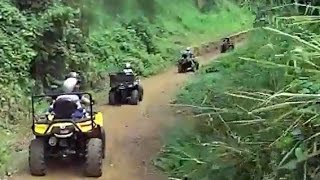preview picture of video 'Aventura en ATV / Fourtrack por la Falda del Yunque, Hacienda Carabali, Luquillo, Puerto Rico'