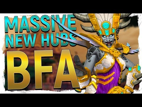 EPIC! NEW Alliance & Horde Hub Cities in WoW Battle for Azeroth - Boralis & Zuldazar!