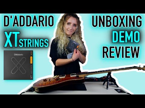 D'ADDARIO XT STRINGS | UNBOXING, DEMO & REVIEW