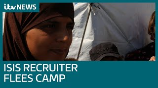Ex-IS recruiter says she is being held by Syrian rebels after escaping detention camp | ITV News