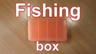 Бокс для рыболовных принадлежностей 5 ячеек прозрачный