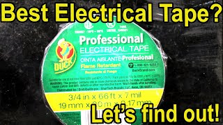 Which Electrical Tape Brand is Best?  Lets find out!