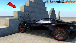 BeamNG Drive highest horsepower meets indestructible wall