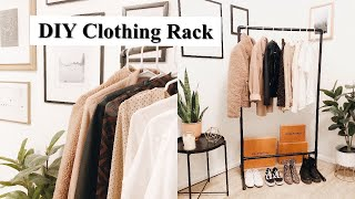 HOW TO BUILD A CLOTHING RACK | DIY | UNDER $12 WITH PVC PIPE | INDUSTRIAL | Before+after | MAY NUNEZ