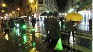 Bollards with Pedestrian Crossing Lights - Bilbao, Spain