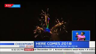 Several countries usher in the new year 2018