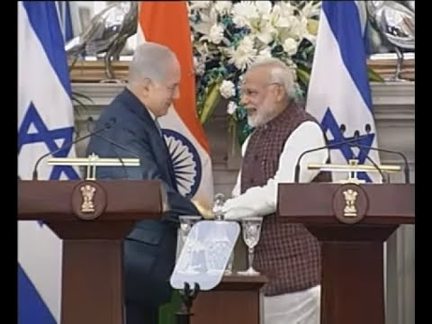 PM Modi & PM of Israel Netanyahu at Joint Press Statement
